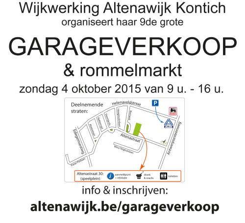garageverkoop affiche2015